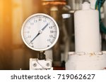 pressure gauge using measure... | Shutterstock . vector #719062627
