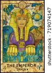 emperor. sphinx. fantasy... | Shutterstock . vector #719074147