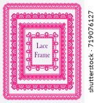 set of square lace frames....