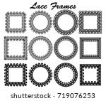 set of lace frames of different ... | Shutterstock .eps vector #719076253