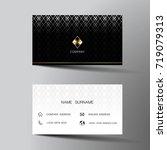 modern business card template...   Shutterstock .eps vector #719079313