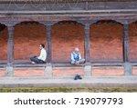 bakhtapur city  nepal   circa... | Shutterstock . vector #719079793