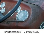 Dials And Gauges On Old Rusty...