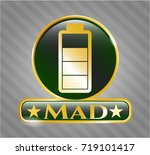 gold shiny badge with battery... | Shutterstock .eps vector #719101417
