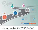 business road map timeline... | Shutterstock .eps vector #719104063