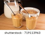 doce de leite or dulce de leche ... | Shutterstock . vector #719113963