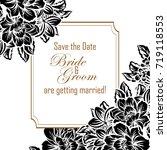 vintage delicate invitation... | Shutterstock .eps vector #719118553