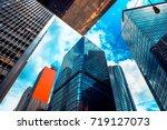 modern office building detail ... | Shutterstock . vector #719127073