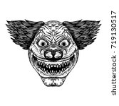 evil scary clown monster with... | Shutterstock .eps vector #719130517