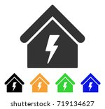 building electricity icon.... | Shutterstock .eps vector #719134627