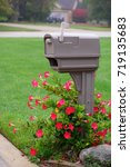 modern plastic mail box with... | Shutterstock . vector #719135683
