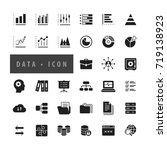 data icons set  vector   Shutterstock .eps vector #719138923