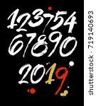 vector set of calligraphic... | Shutterstock .eps vector #719140693