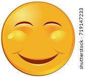 vector of a yellow smiling emoji | Shutterstock .eps vector #719147233
