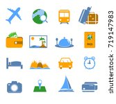 simple travel icons. vector. | Shutterstock .eps vector #719147983