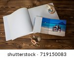 open book with a photo couples... | Shutterstock . vector #719150083