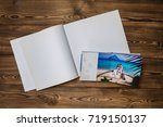 open book with a photo couples... | Shutterstock . vector #719150137