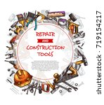 repair and construction work... | Shutterstock .eps vector #719154217