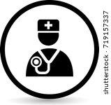 doctor icons. vector. | Shutterstock .eps vector #719157337