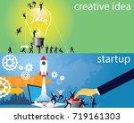 vector illustration. business... | Shutterstock .eps vector #719161303