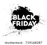 black friday. big shopping sale.... | Shutterstock .eps vector #719168287