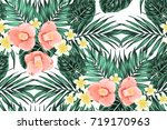 bright summer seamless pattern... | Shutterstock .eps vector #719170963