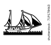 ship with sails icon image | Shutterstock .eps vector #719178463