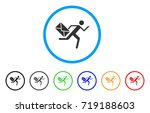 courier rounded icon. style is... | Shutterstock .eps vector #719188603
