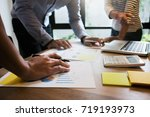 ceo founder business team... | Shutterstock . vector #719193973