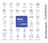 line icons set. mall pack.... | Shutterstock .eps vector #719195947