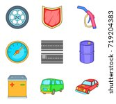 replacing part icons set.... | Shutterstock .eps vector #719204383