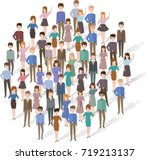 fun people forming a circle | Shutterstock .eps vector #719213137