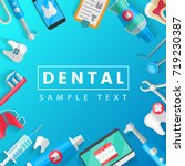 dental banner background... | Shutterstock .eps vector #719230387