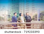 portrait of  handsome group of... | Shutterstock . vector #719233393