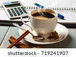 coffee in a composition with... | Shutterstock . vector #719241907