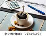 coffee in a composition with... | Shutterstock . vector #719241937