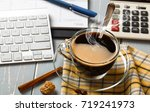 coffee in a composition with... | Shutterstock . vector #719241973
