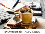 coffee in a composition with... | Shutterstock . vector #719242003