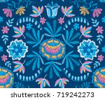 vector seamless decorative... | Shutterstock .eps vector #719242273