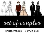 vector set of illustrated happy ...   Shutterstock .eps vector #71925118