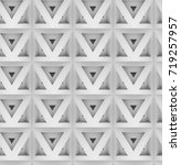 3d polygon white panels.shaded... | Shutterstock . vector #719257957