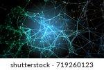 blue plexus structure. abstract ...   Shutterstock . vector #719260123