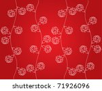a red background with white... | Shutterstock .eps vector #71926096