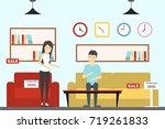 furniture store interior.... | Shutterstock . vector #719261833