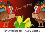 happy thanksgiving card. | Shutterstock .eps vector #719268853