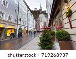 salzburg  austria   december 25 ...   Shutterstock . vector #719268937