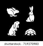 silhouettes of hares in...   Shutterstock .eps vector #719270983