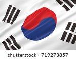 3d illustration of south korea...   Shutterstock . vector #719273857