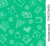 finance symbols seamless... | Shutterstock .eps vector #719275453