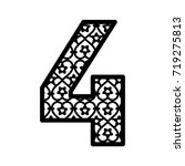 number 4 for laser cutting....   Shutterstock .eps vector #719275813